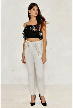 Eleanor Embroidered Crop Top