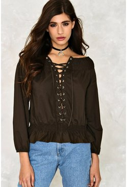 Esme Lace-Up Top