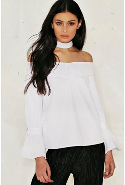 Scarlett Choker Off-The-Shoulder Top