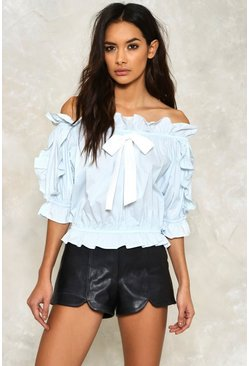 Heather Off-The-Shoulder Top