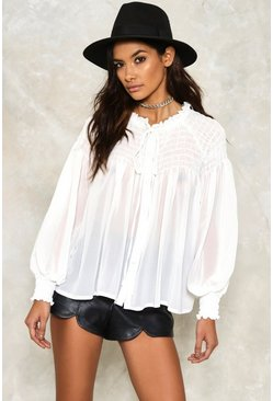 Amy Ruffled Blouse