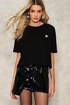 Heidi Heart Embroidered Boxy T-Shirt