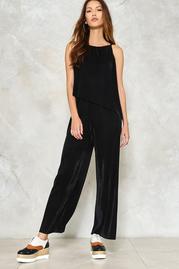 Sugar On the Side Pleated Jumpsuit