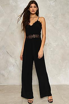 Eyelash Lace Insert Jumpsuit