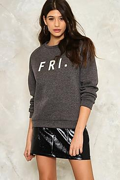 Alice Fri Slogan Sweatshirt