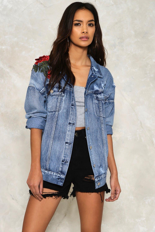 Harper Embroidered Denim Jacket | Shop Clothes at Nasty Gal!