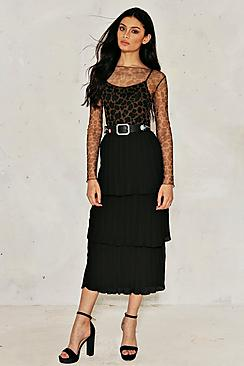 Mila Tiered Pleated Maxi Skirt