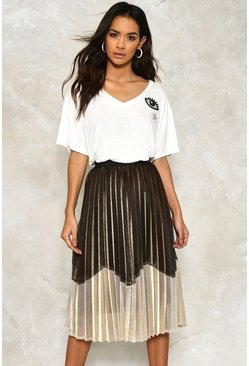 Zoe Metallic Midi Skirt