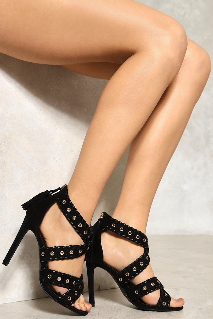 Eye Let You Go Strappy Heel