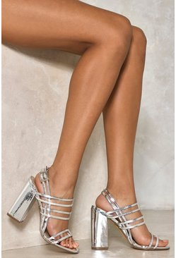 Pixie Metallic Block Heel