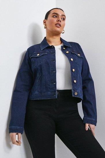 Indigo Curve Western Denim Jacket
