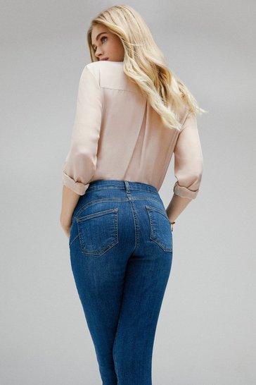 Mid wash Contour Cut Skinny Jean