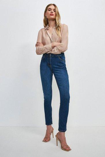 Mid wash Classic Cut Slim Leg Jean