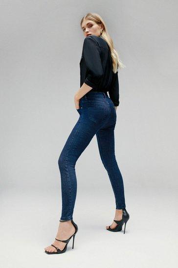 Indigo Luxe Cut High Rise Skinny Jean