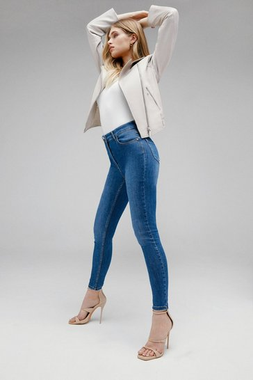 Mid wash Luxe Cut High Rise Skinny Jean