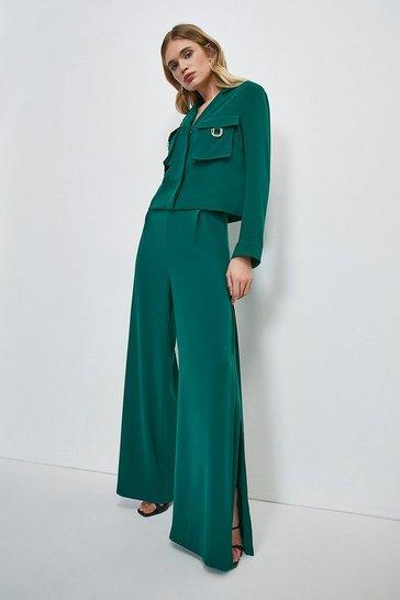 Green Luxe Gold Trim Detail Shirt