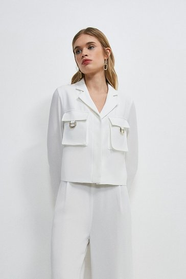 Ivory Luxe Gold Trim Detail Shirt
