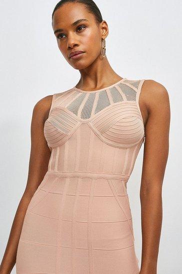 Blush Bandage Bodice Knit Dress