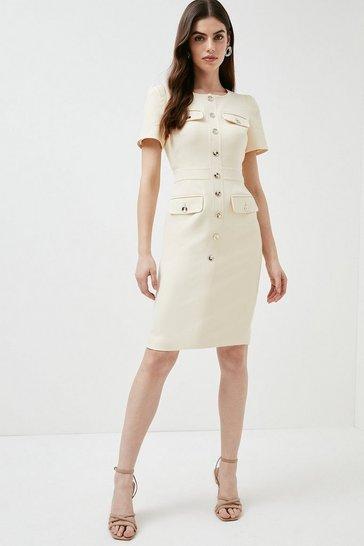 Cream Utility Dress