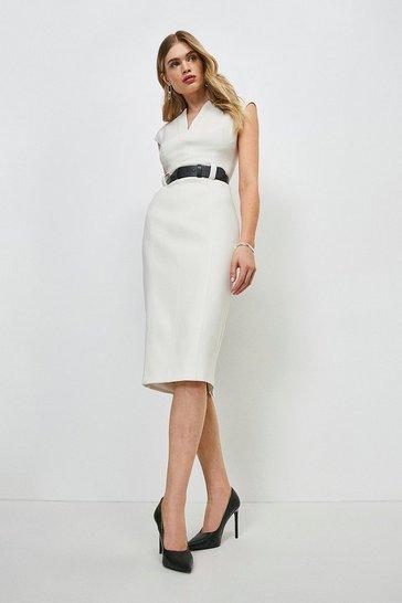 Ivory Forever Cap Sleeve Dress