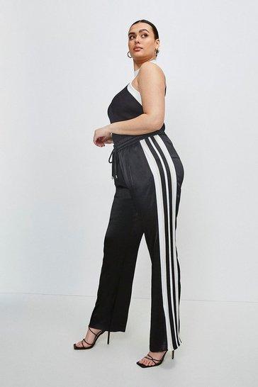 Blackwhite Curve Luxe Crepe Satin Wide Leg Jogger