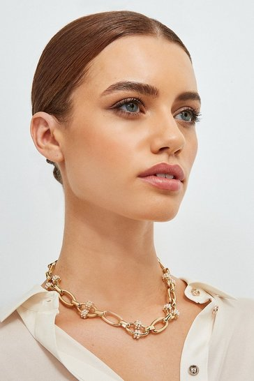 Gold Plated Pearl Detail Chain