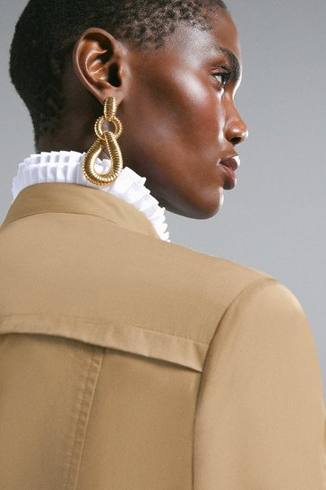 Gold Plated Loop Teardrop Earrings