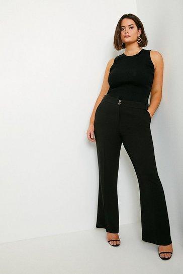 Black Curve Classic Straight Trouser