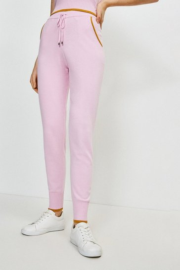 Lilac Fashioned Knit Joggers