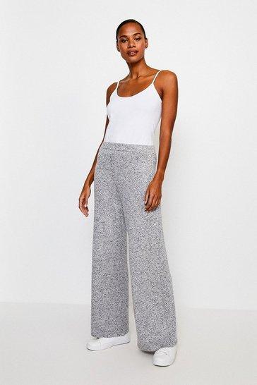 Grey Super Soft Lounge Wide Leg Jersey Trousers