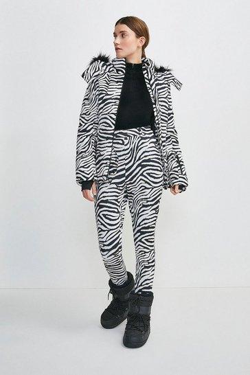 Zebra Print Ski Trouser