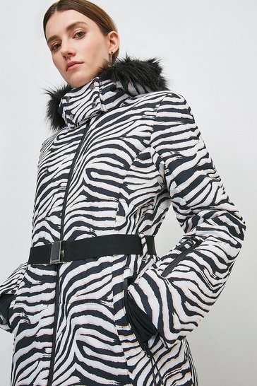 Zebra Print Ski Jacket