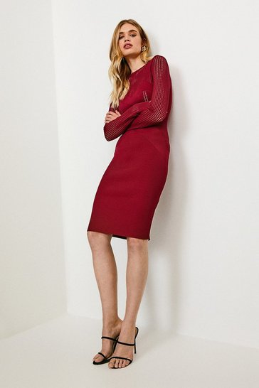 Fig Open Work Pointelle Knit Dress