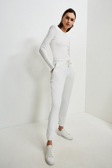 Cream Lounge Rib Shoulder Pad Jersey Body