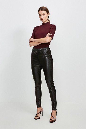 Black Leather and Ponte Legging