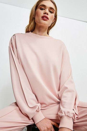 Pink Smart Ponte Lounge Sweatshirt