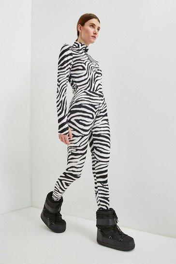 Zebra Ski Legging