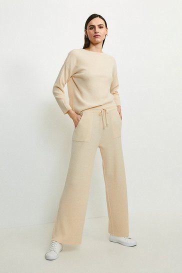 Oatmeal Cashmere Blend Jogger
