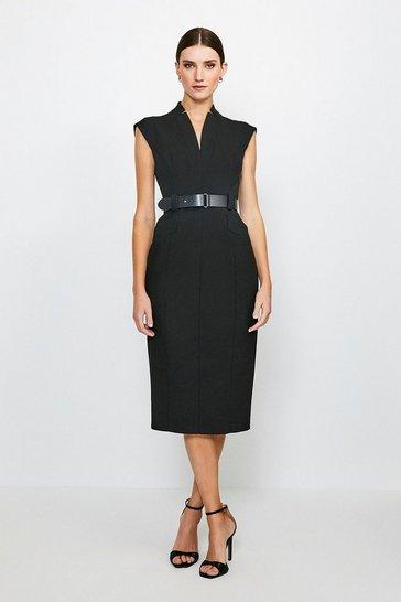 Black Forever Cap Sleeve Dress