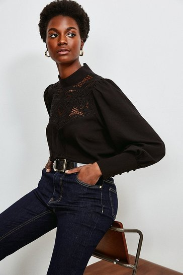 Black Cutwork Embroidery Blouse