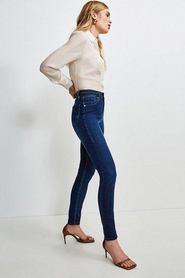 Indigo Plait Waistband Skinny Jean