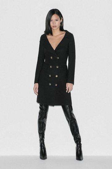Black Label Italian Stretch Wool DB Dress