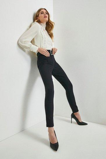 Black Italian Compact Milano Jersey Legging
