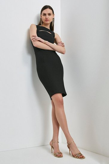 Black Cutout Ponte Dress