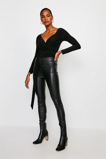 Black Slinky Jersey Body