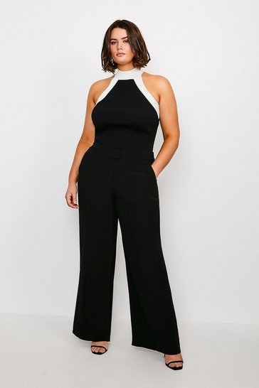 Black Curve Soft Tuxedo Trouser