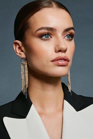 Gold Waterfall Drop Earrings