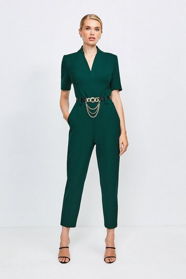 Forest Forever Chain Belt Jumpsuit