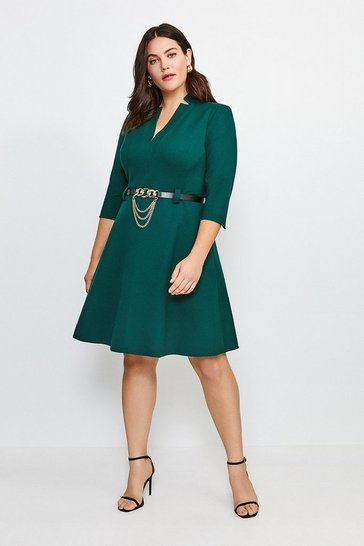 Forest Curve Forever Chain Belt A Line Dress
