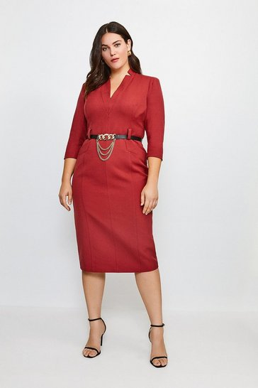 Rust Curve Forever Dress